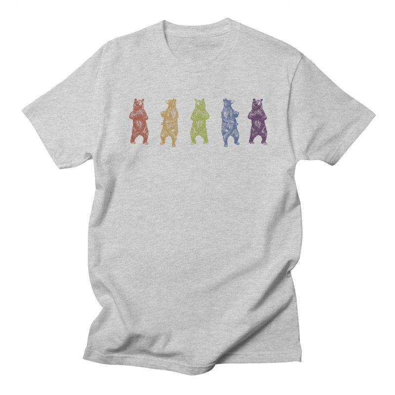 Dancing Rainbow Bears Men's Regular T-Shirt by Mitchell Black's Artist Shop