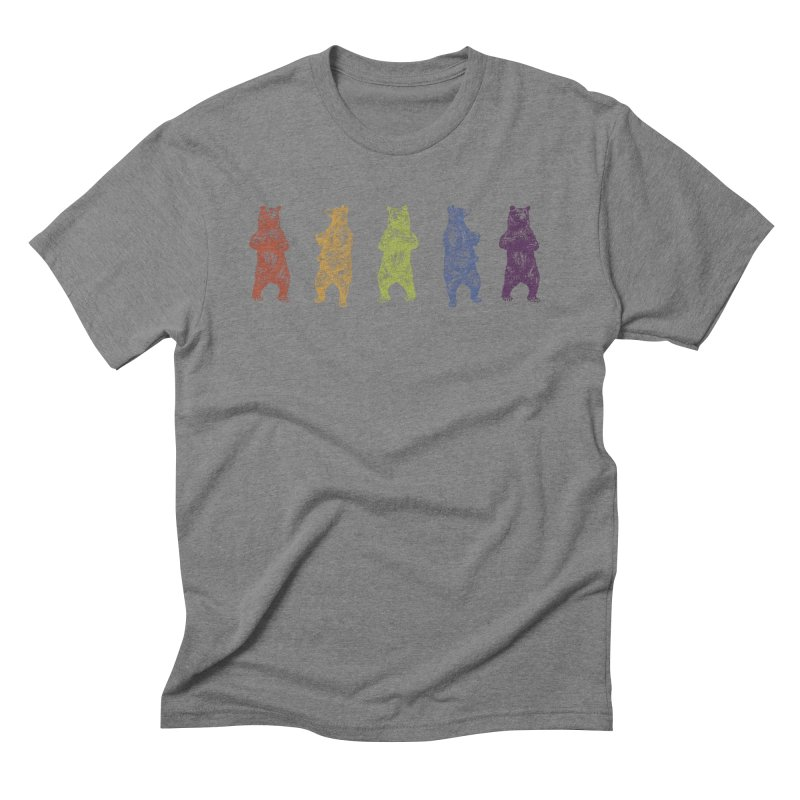 Dancing Rainbow Bears Men's Triblend T-Shirt by Mitchell Black's Artist Shop