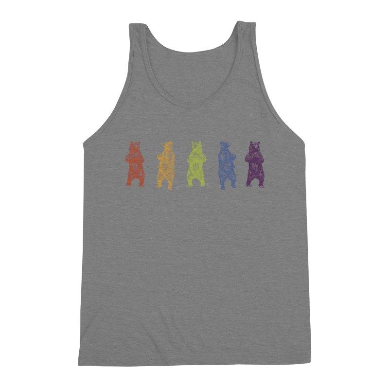 Dancing Rainbow Bears Men's Tank by Mitchell Black's Artist Shop