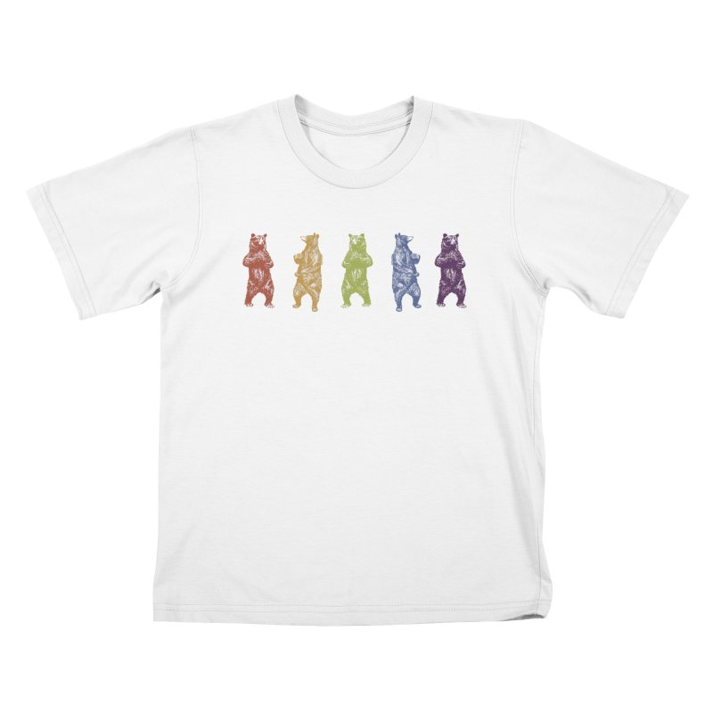 Dancing Rainbow Bears Kids T-Shirt by Mitchell Black's Artist Shop