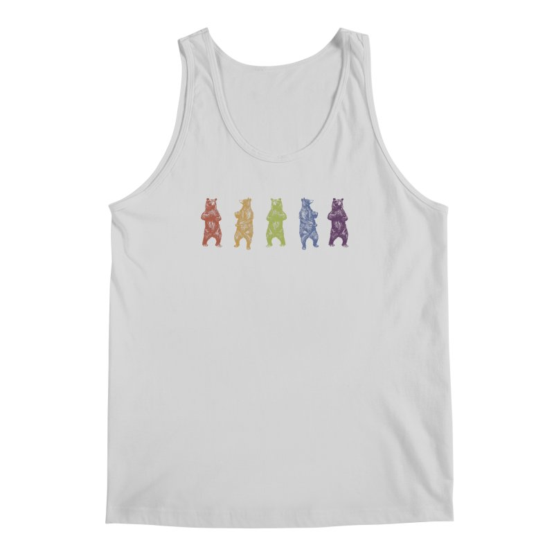 Dancing Rainbow Bears Men's Tank by Mitchell Black's Artist Shop