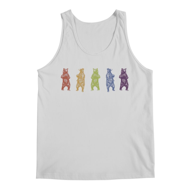 Dancing Rainbow Bears Men's Regular Tank by Mitchell Black's Artist Shop
