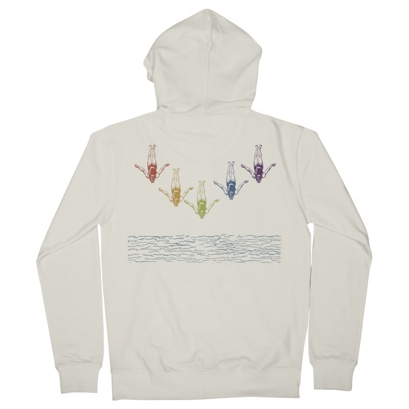 The Water is Fine Men's French Terry Zip-Up Hoody by Mitchell Black's Artist Shop
