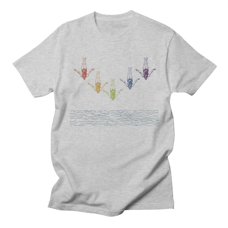 The Water is Fine Men's T-shirt by Mitchell Black's Artist Shop