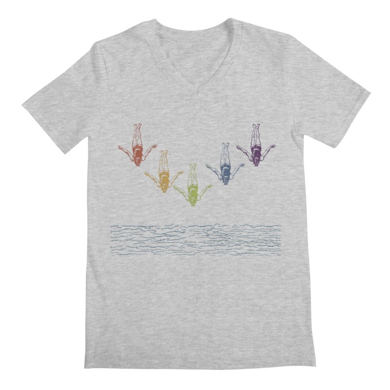 The Water is Fine Men's V-Neck by Mitchell Black's Artist Shop