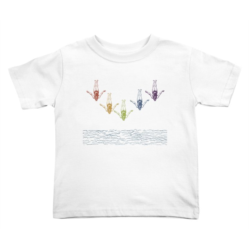 The Water is Fine Kids Toddler T-Shirt by Mitchell Black's Artist Shop
