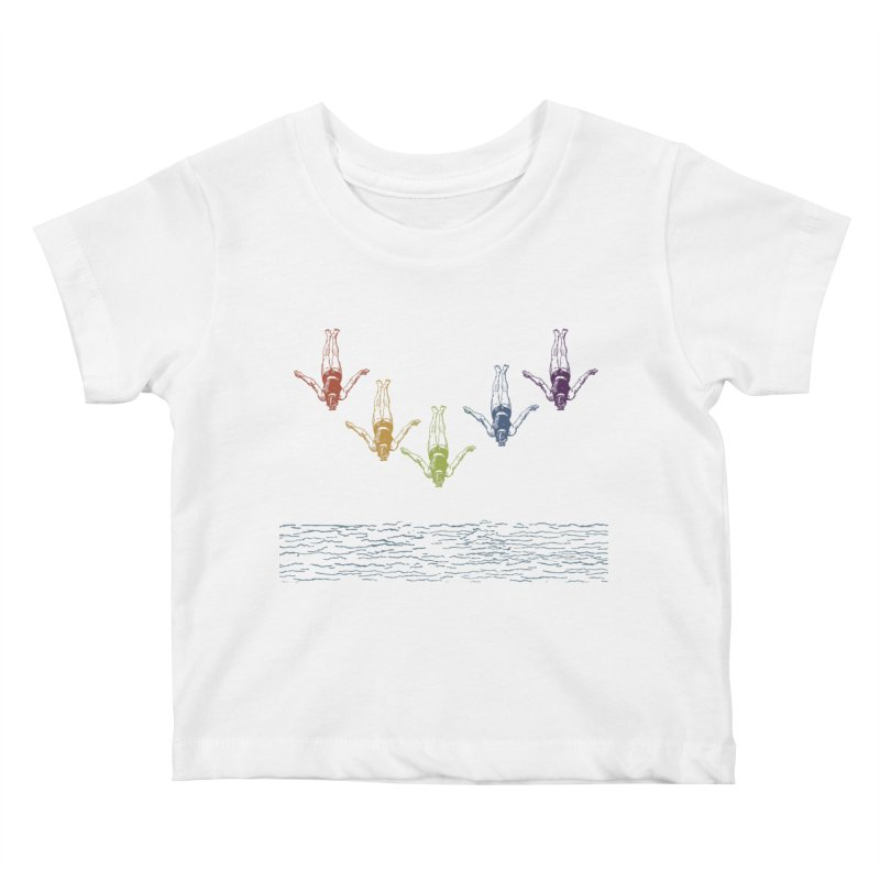 The Water is Fine Kids Baby T-Shirt by Mitchell Black's Artist Shop