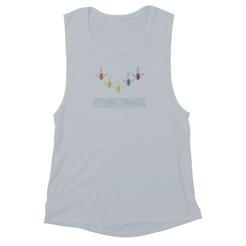 The Water is Fine Women's Muscle Tank by Mitchell Black's Artist Shop