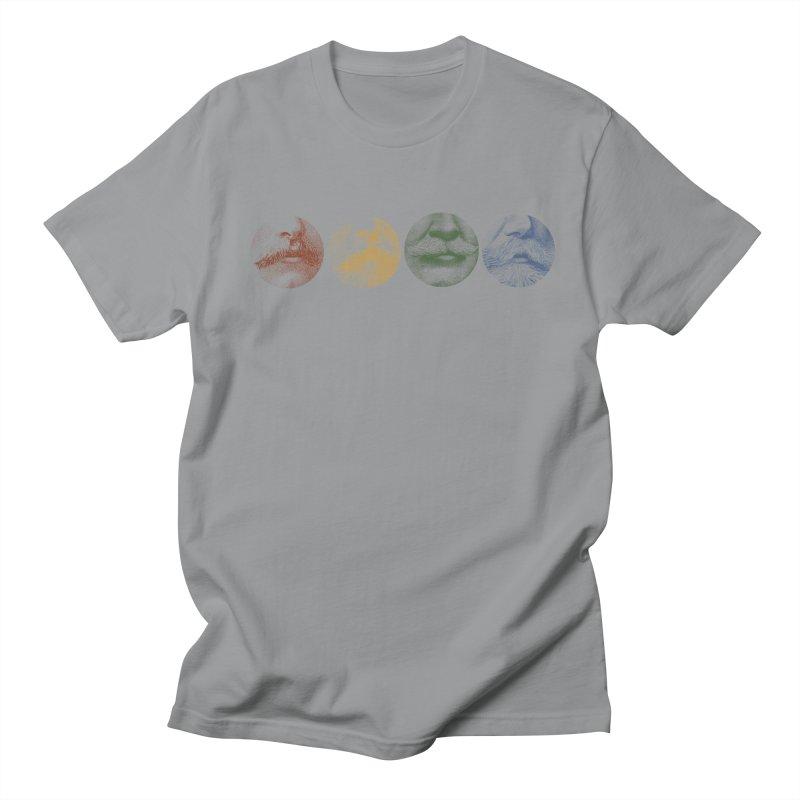 Mustache Rainbow Men's T-shirt by Mitchell Black's Artist Shop