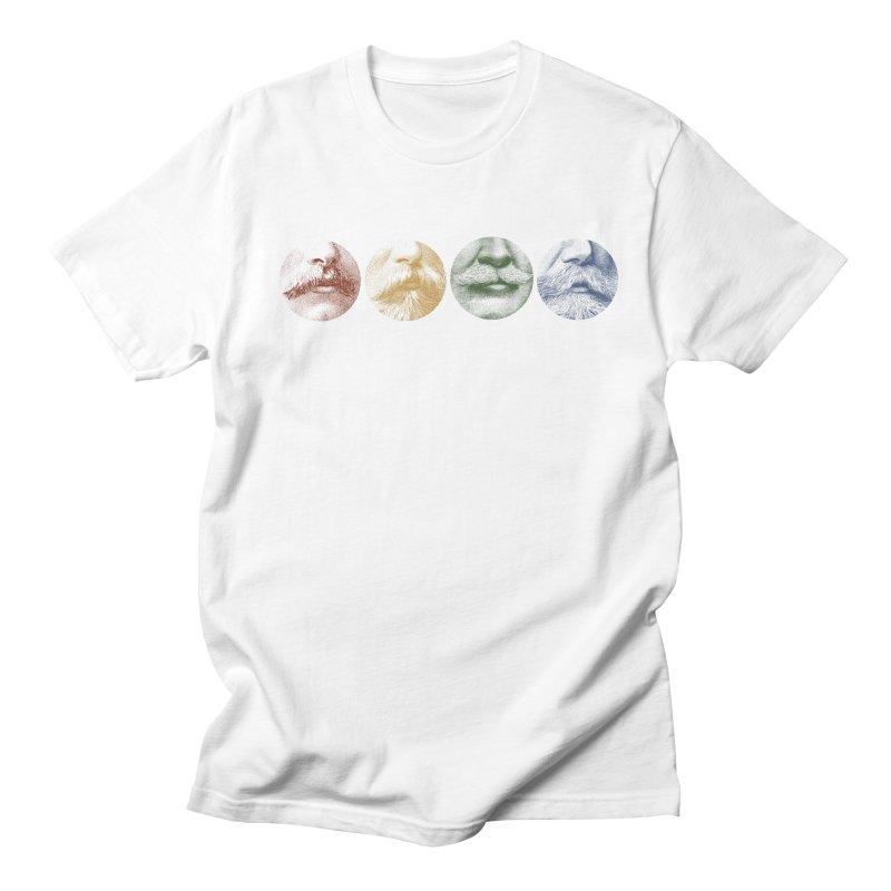 Mustache Rainbow Men's Regular T-Shirt by Mitchell Black's Artist Shop