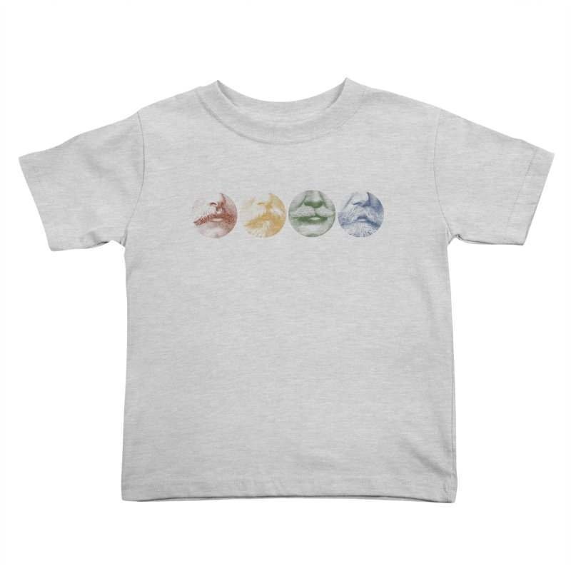 Mustache Rainbow Kids Toddler T-Shirt by Mitchell Black's Artist Shop