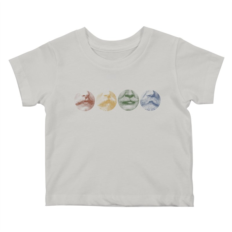 Mustache Rainbow Kids Baby T-Shirt by Mitchell Black's Artist Shop