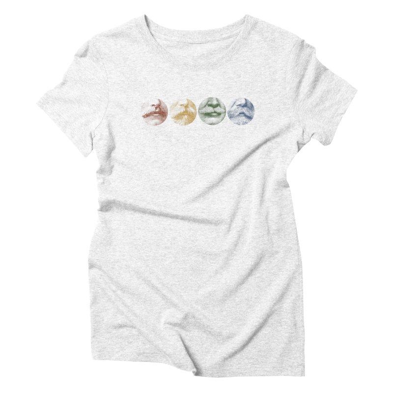 Mustache Rainbow Women's Triblend T-shirt by Mitchell Black's Artist Shop
