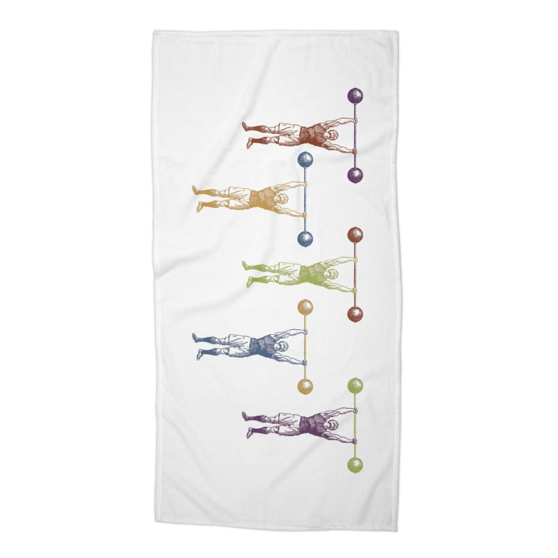 All I Need is a Strong Man Accessories Beach Towel by Mitchell Black's Artist Shop