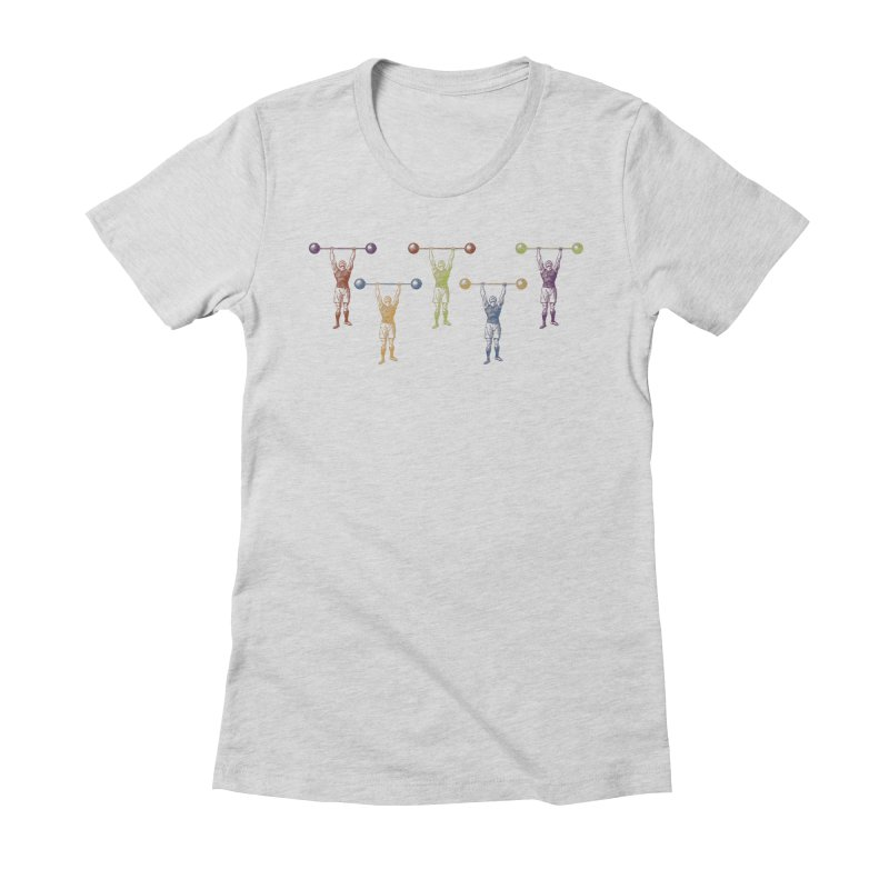 All I Need is a Strong Man Women's Fitted T-Shirt by Mitchell Black's Artist Shop