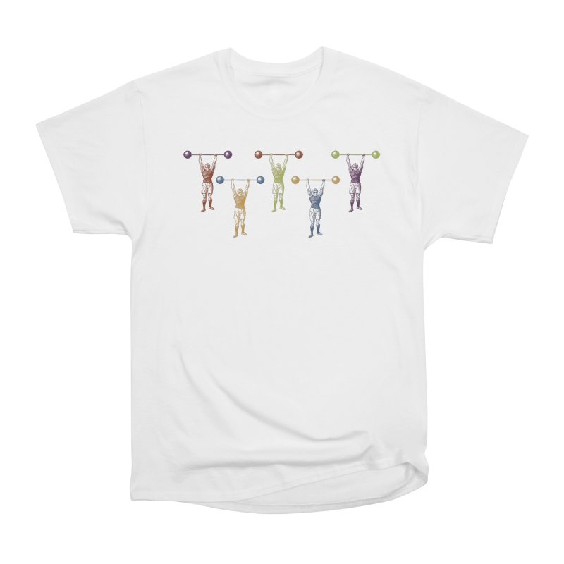 All I Need is a Strong Man Women's Heavyweight Unisex T-Shirt by Mitchell Black's Artist Shop