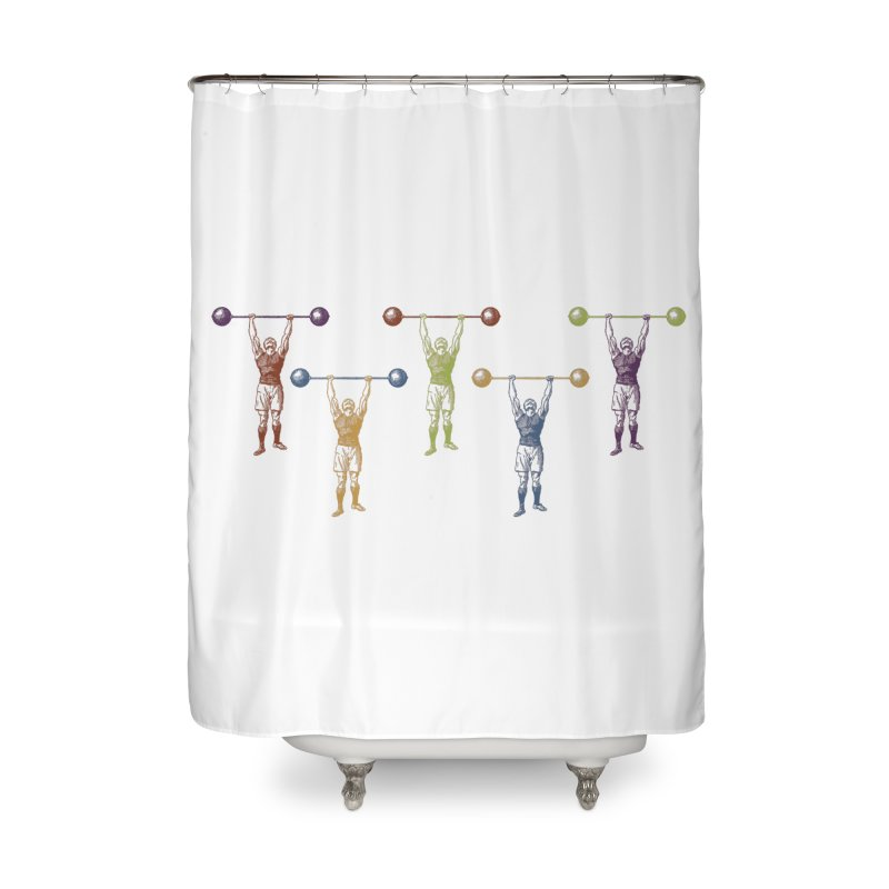 All I Need is a Strong Man Home Shower Curtain by Mitchell Black's Artist Shop