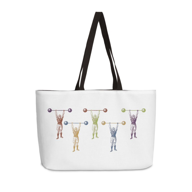 All I Need is a Strong Man Accessories Weekender Bag Bag by Mitchell Black's Artist Shop