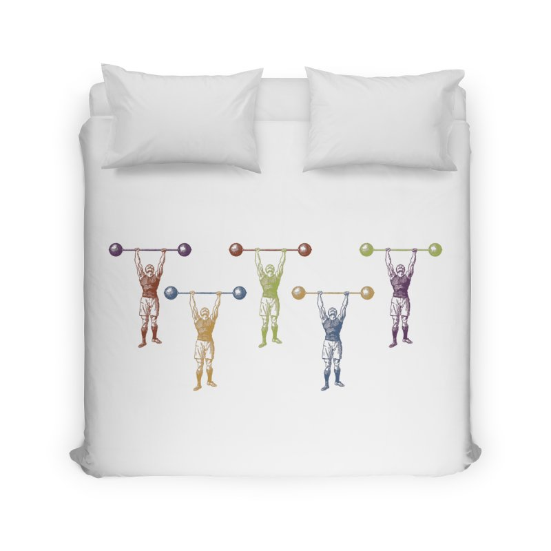 All I Need is a Strong Man Home Duvet by Mitchell Black's Artist Shop
