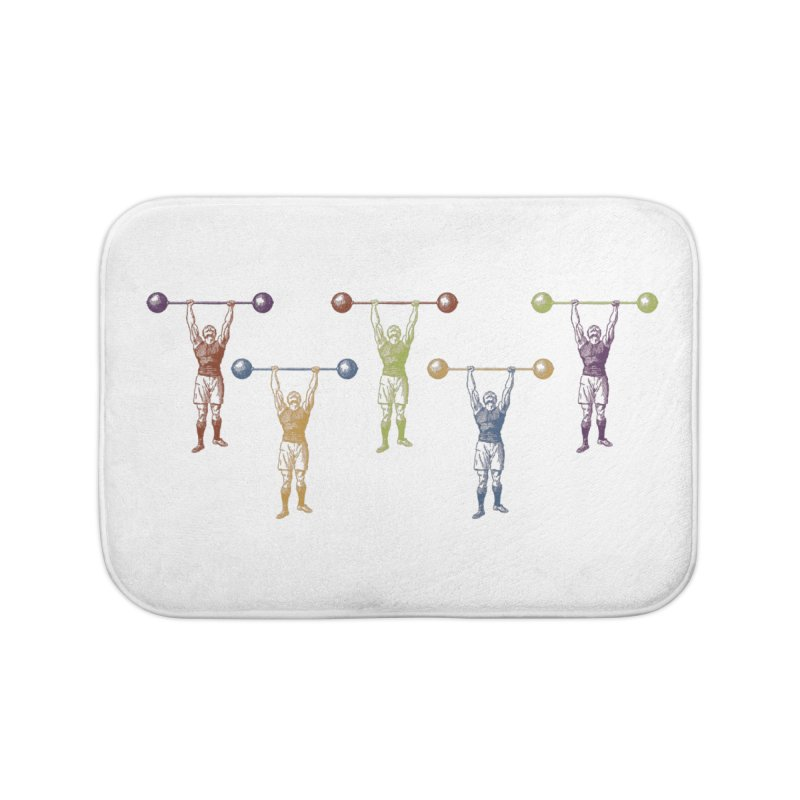 All I Need is a Strong Man Home Bath Mat by Mitchell Black's Artist Shop