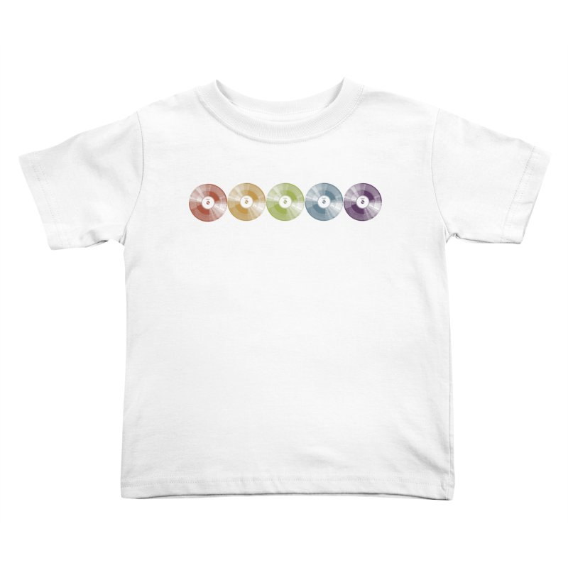 Put a Record On Kids Toddler T-Shirt by Mitchell Black's Artist Shop