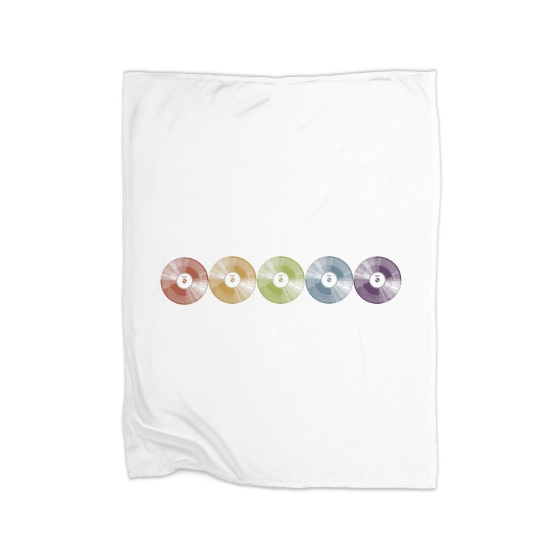 Put a Record On Home Fleece Blanket Blanket by Mitchell Black's Artist Shop