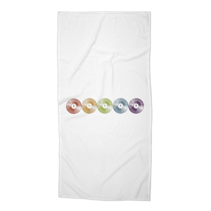Put a Record On Accessories Beach Towel by Mitchell Black's Artist Shop
