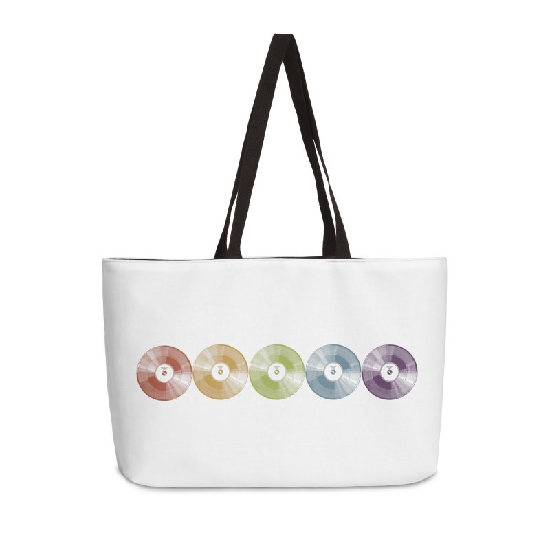 Put a Record On Accessories Weekender Bag Bag by Mitchell Black's Artist Shop
