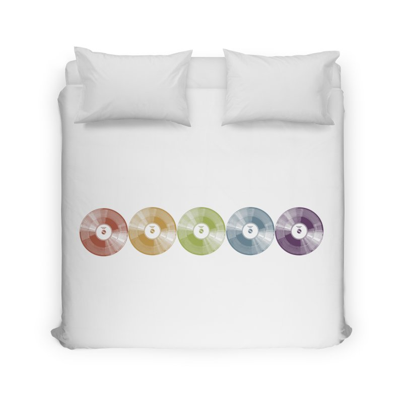 Put a Record On Home Duvet by Mitchell Black's Artist Shop