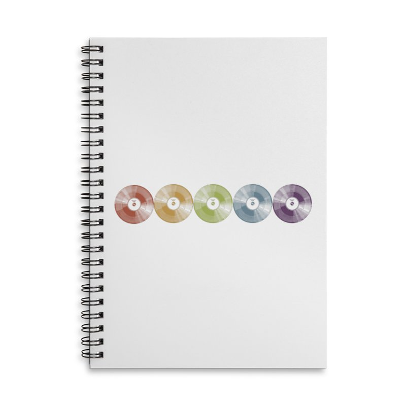 Put a Record On Accessories Lined Spiral Notebook by Mitchell Black's Artist Shop