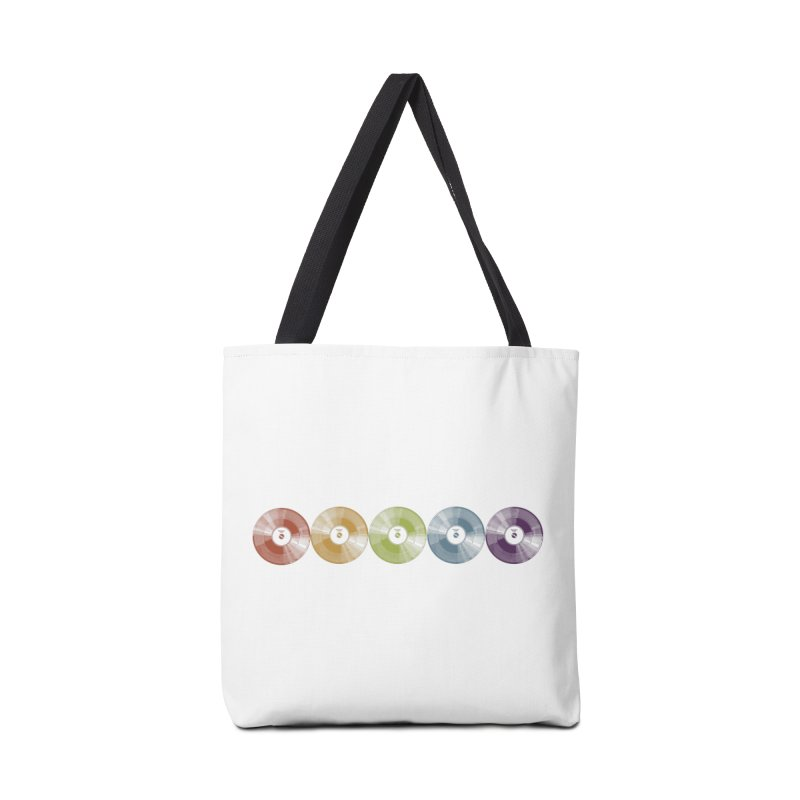 Put a Record On Accessories Tote Bag Bag by Mitchell Black's Artist Shop