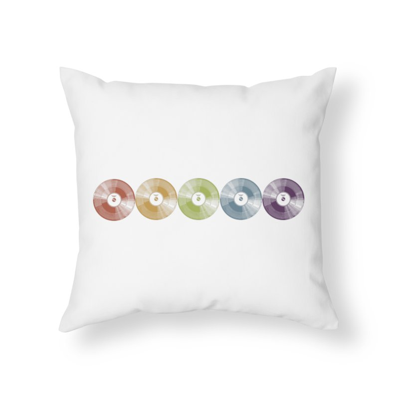 Put a Record On Home Throw Pillow by Mitchell Black's Artist Shop
