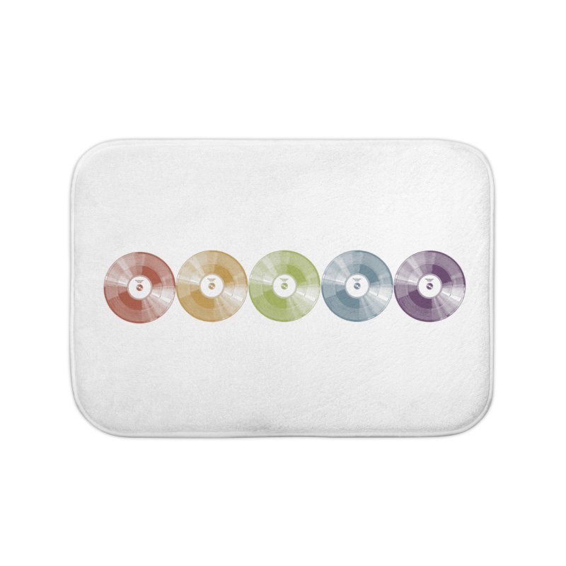 Put a Record On Home Bath Mat by Mitchell Black's Artist Shop