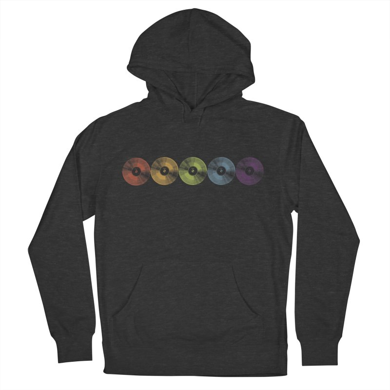 Put a Record On Women's French Terry Pullover Hoody by Mitchell Black's Artist Shop