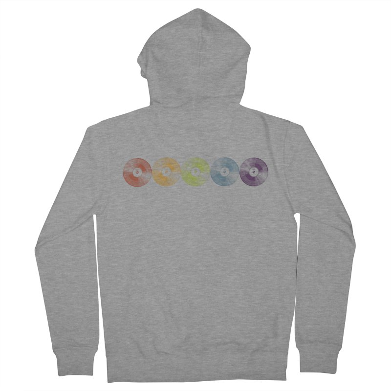 Put a Record On Women's French Terry Zip-Up Hoody by Mitchell Black's Artist Shop