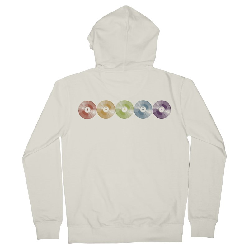 Put a Record On Men's French Terry Zip-Up Hoody by Mitchell Black's Artist Shop