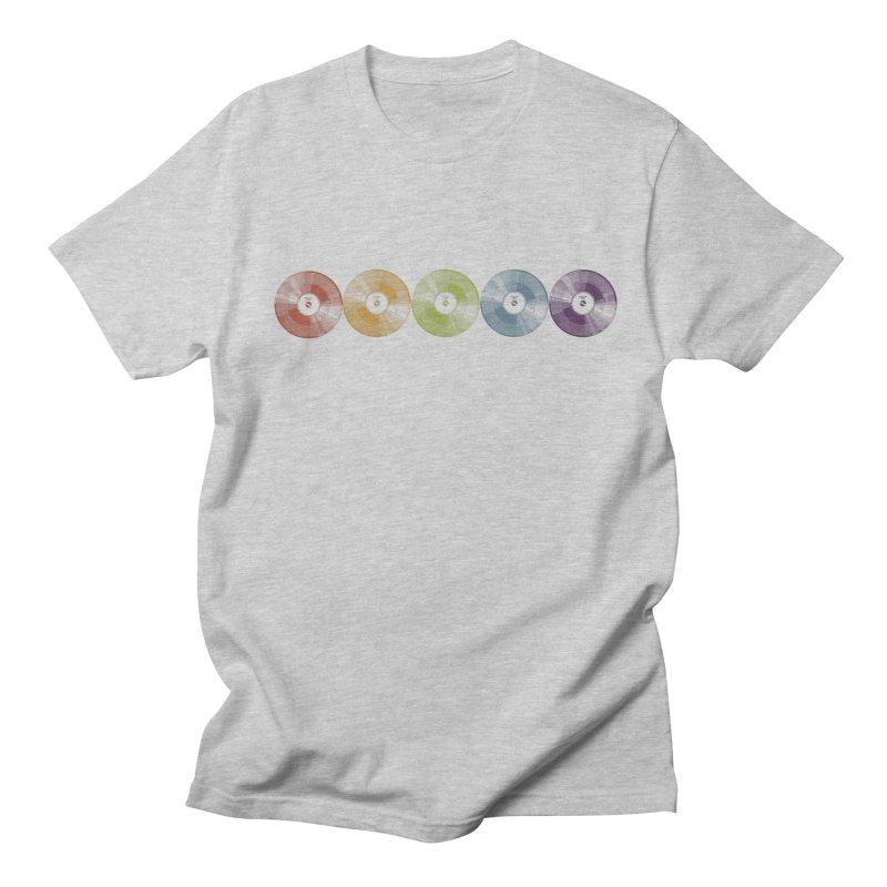 Put a Record On Men's Regular T-Shirt by Mitchell Black's Artist Shop