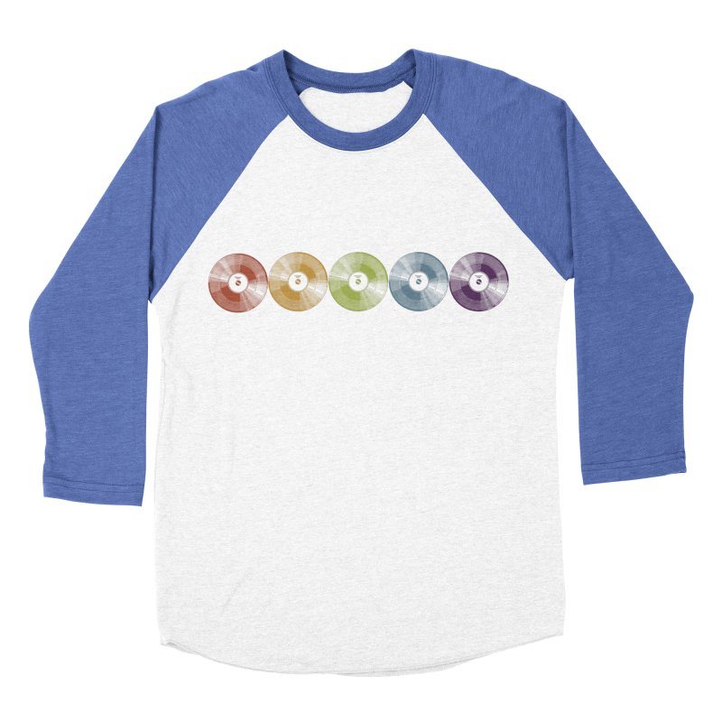 Put a Record On Women's Baseball Triblend Longsleeve T-Shirt by Mitchell Black's Artist Shop