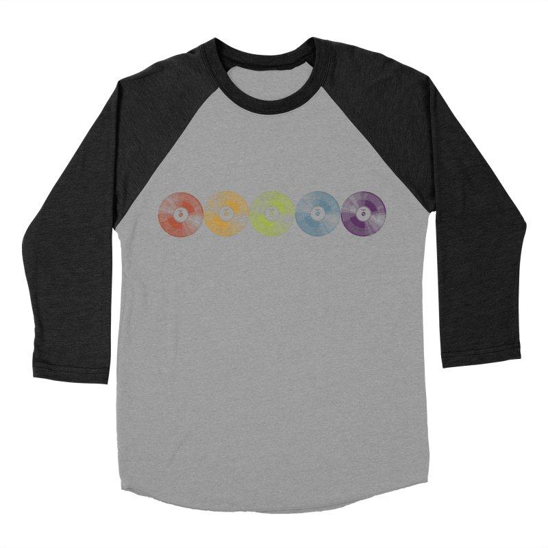 Put a Record On Women's Baseball Triblend Longsleeve T-Shirt by Mitchell Black's Artist Shop