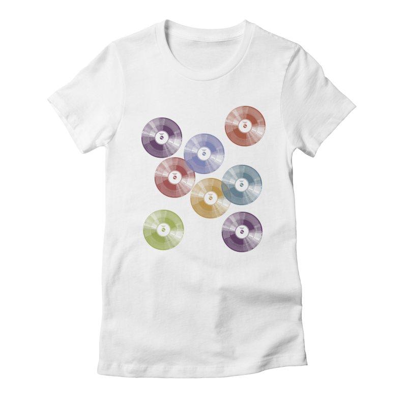 Hey Mr. DJ Women's Fitted T-Shirt by Mitchell Black's Artist Shop