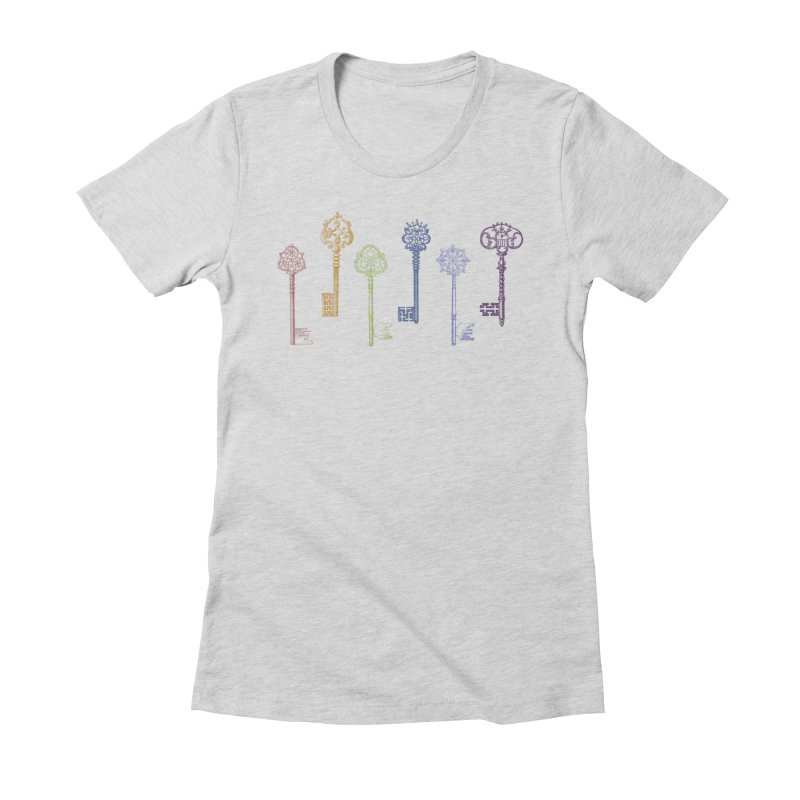 Key to Life Women's Fitted T-Shirt by Mitchell Black's Artist Shop