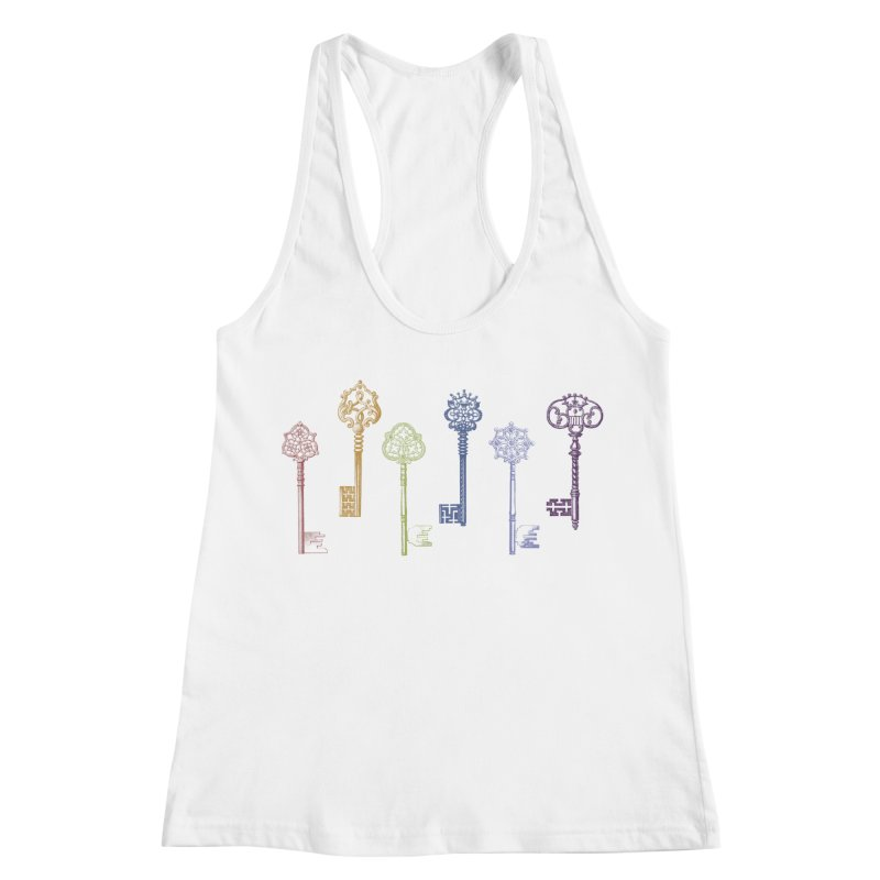 Key to Life Women's Racerback Tank by Mitchell Black's Artist Shop