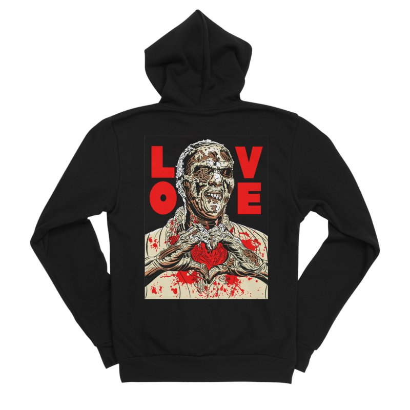 Zombie Love Women's Sponge Fleece Zip-Up Hoody by Mitch O'Connell