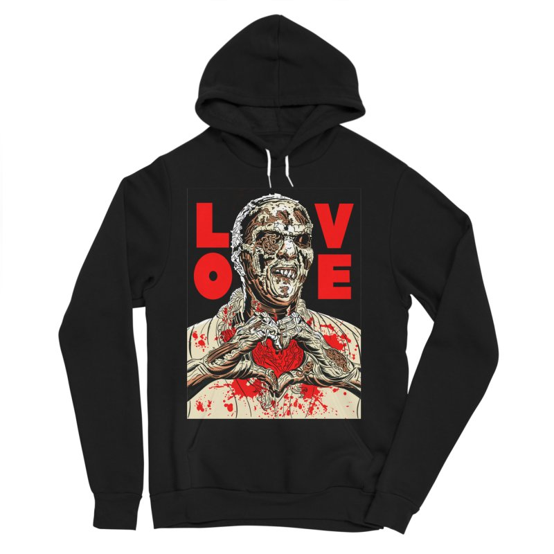 Zombie Love Women's Sponge Fleece Pullover Hoody by Mitch O'Connell