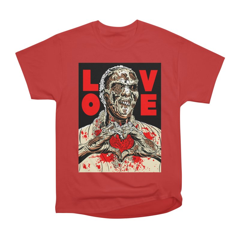 Zombie Love Men's Heavyweight T-Shirt by Mitch O'Connell