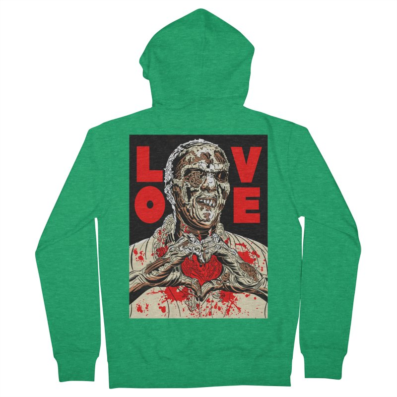 Zombie Love Women's Zip-Up Hoody by Mitch O'Connell