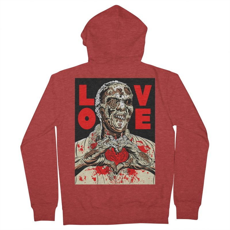 Zombie Love Women's French Terry Zip-Up Hoody by Mitch O'Connell