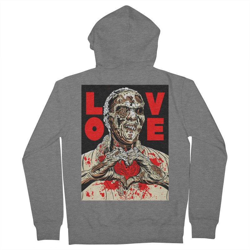 Zombie Love Men's French Terry Zip-Up Hoody by Mitch O'Connell