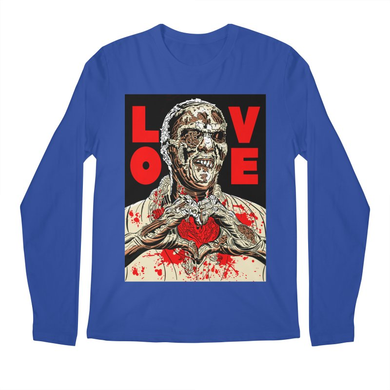 Zombie Love Men's Regular Longsleeve T-Shirt by Mitch O'Connell