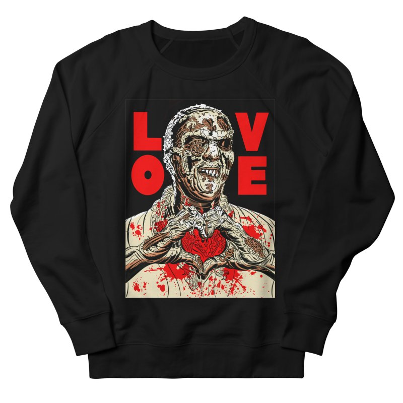 Zombie Love Women's French Terry Sweatshirt by Mitch O'Connell